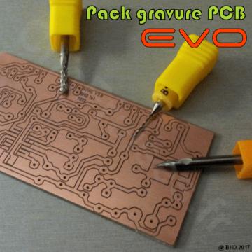 Pack gravure Circuits Imprimés EVOMAX
