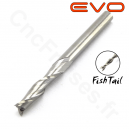 Fraise 2 dents FishTail 3.17mm LU 15mm Q 3.175mm EVO
