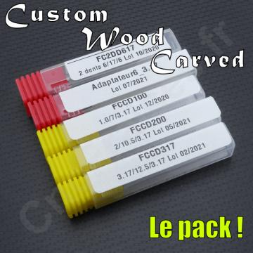 Pack Custom Wood Carved
