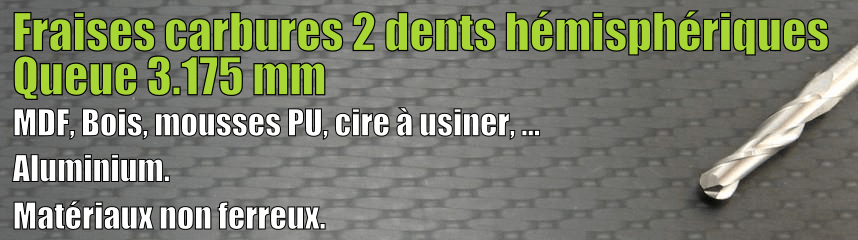 Carbures 2 dents hémisphérique