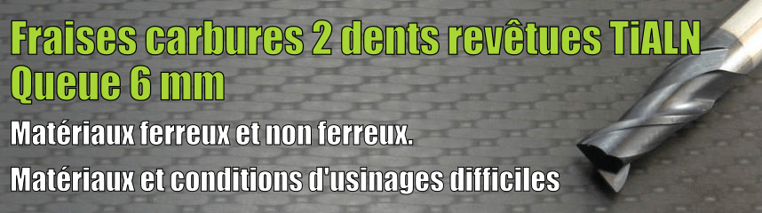 Carbure 2 dents Revêtues