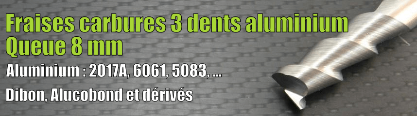 Carbure 3 dents Alu