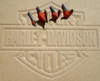 Carving Logo Harley Davidson fraises CncFraises.