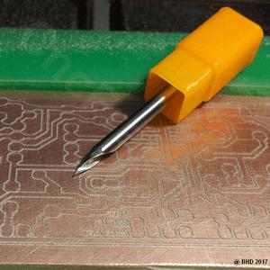 Gravure circuit imprimé fraiseuse cnc